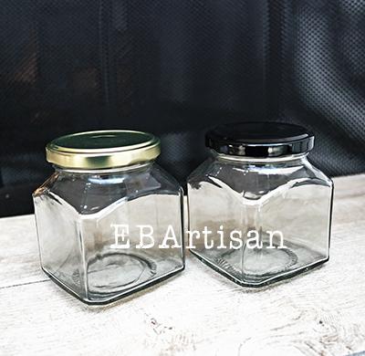 frasco de vidrio cuadrado 314 ml