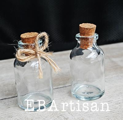 botellitas de vidrio